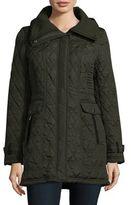 Weatherproof Knit Collar Long-Sleeve Jacket