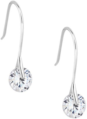 Simply Silver Cubic Zirconia Round Brilliant Drop Earring