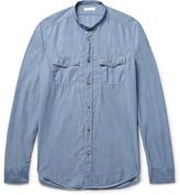 Boglioli - Slim-fit Grandad-collar Cotton-chambray Shirt
