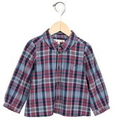 Bonpoint Boys' Plaid Print Button-Up Top