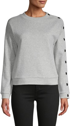 Rachel Roy Heathered Cotton-Blend Sweatshirt