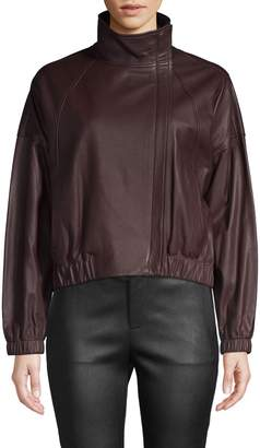 Vince Classic Leather Moto Jacket