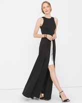 White House Black Market Sleeveless Colorblock Overlay Gown