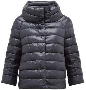 Herno Sofia Quilted Down Jacket - Womens - Navy