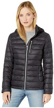 MICHAEL Michael Kors Short Packable with Zipper Pocket M824387TZ (Black) Women's Coat