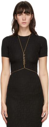 Fendi Gold Logo Charms Body Chain