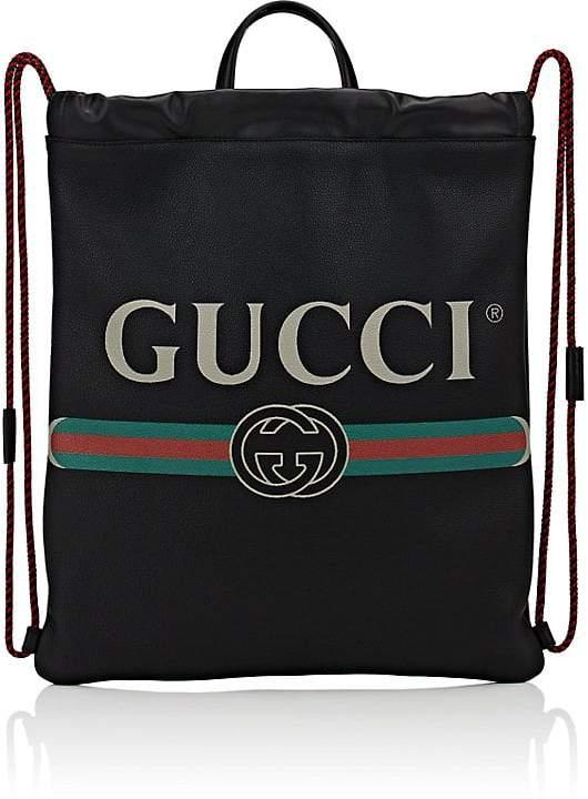 Gucci Men's Logo Drawstring Backpack
