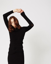 Nicole Miller Knit Mock Neck Dress