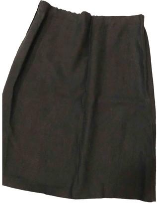 Nicole Farhi Black Linen Skirt for Women
