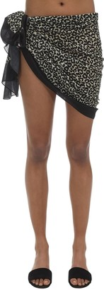 Solid & Striped Leopard Sarong