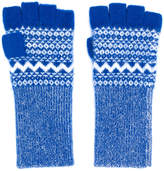 Burberry Fair Isle fingerless gloves
