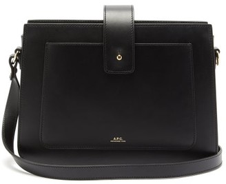 A.P.C. Albane Smooth-leather Cross-body Bag - Black