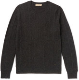 Burberry - Cable-knit Mélange Cashmere Sweater