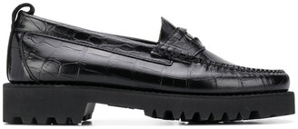 Karl Lagerfeld Paris Exotic chunky penny loafers