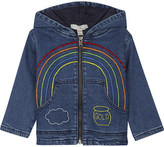 Stella McCartney Bubba embroidered denim hoody 6-36 months