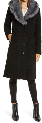 Gallery Wool Blend Coat with Removable Faux Fur Collar