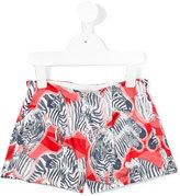 Hucklebones London zebra print satin shorts