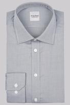 Hardy Amies Slim Fit Grey Single Cuff Textured Shirt