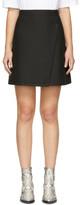 Carven Black Wrap Miniskirt