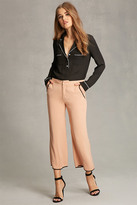 Forever 21 FOREVER 21+ Contrast-Piped Woven Pants
