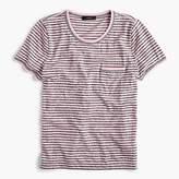 J.Crew Contrast-edged pocket T-shirt in stripes
