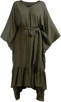 Tree Moss Green Kaftan Dress