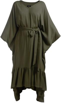 Gisy Tree Moss Green Kaftan Dress