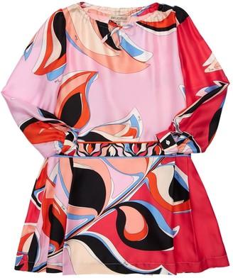 Emilio Pucci Eliconia Printed Silk Satin Dress