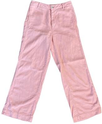 Samsoe & Samsoe Pink Cotton Trousers for Women