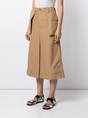 Ganni High-Waisted Mid-Length Skirt