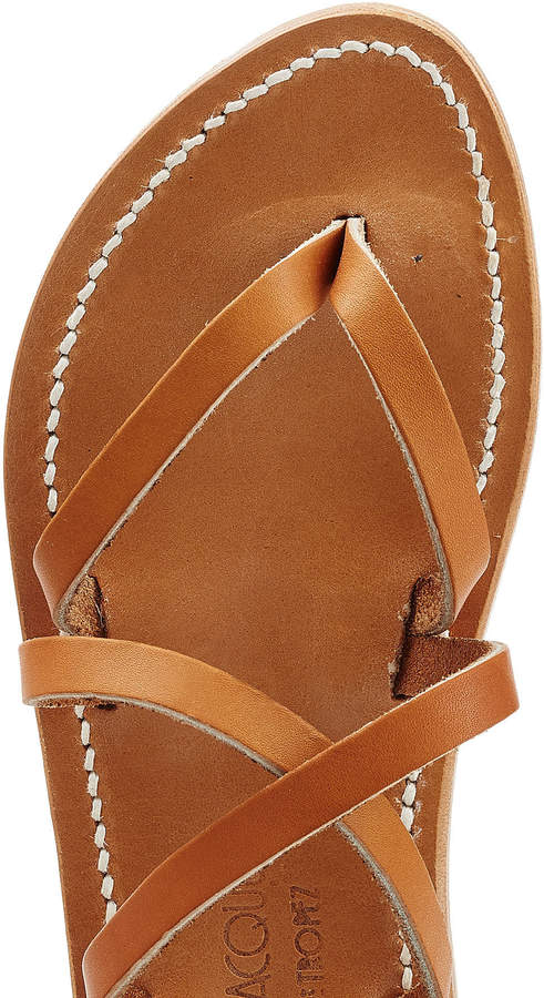 K. Jacques Leather Gladiator Sandals