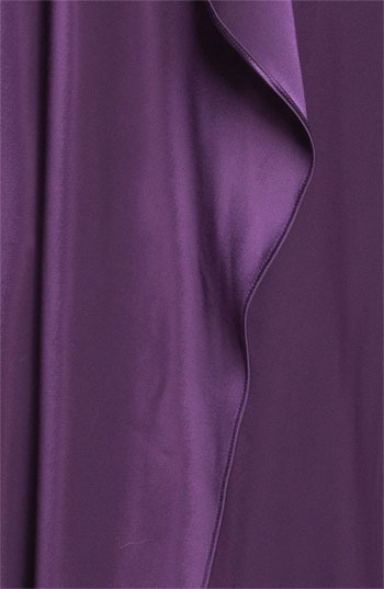 St. John One Shoulder Liquid Satin Gown