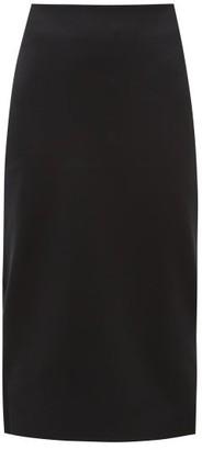 The Row Rabina Scuba Midi Skirt - Black