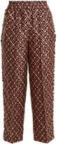 LA DOUBLEJ EDITIONS Geometric-print silk trousers