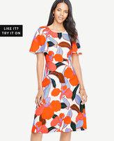 Ann Taylor Bold Blooms Dress
