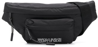 Marcelo Burlon County of Milan Logo-Print Belt Bag