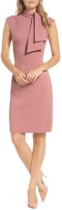 Harper Rose Cap Sleeve Midi With Tie-Neck