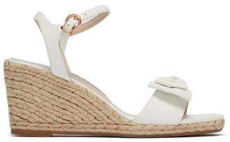 Sophia Webster Bonnie Leather Espadrille Wedges - Womens - White