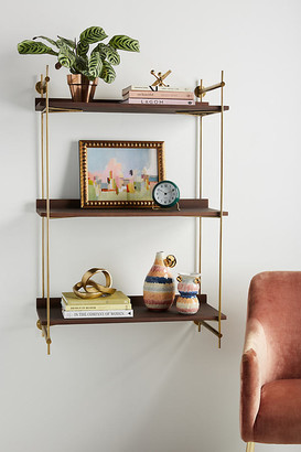 Anthropologie Astoria Wall Mounted Shelving Unit By in Brown Size ALL
