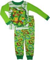 Nickelodeon Teenage Mutant Ninja Turtles Little Boys Long Sleeve Cotton Pajama Set