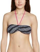 Bjorn Borg Bandeau Criss Cross Stripe Women's Bikini
