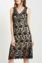 Soprano Lace Overlay Dress