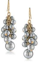 Carolee 12K Goldplated Cluster Drop Pierced Earrings