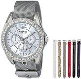 XOXO Women's XO9053 Rhinsetone-Accented Watch with Interchangeable Straps