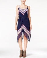 As U Wish Juniors' Printed Asymmetrical Dress