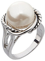 Dillard's Boxed Collection Pearl Stone Rope Ring