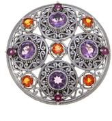 Nicky Butler Celtic Collection Multigemstone Sterling Silver Medallion Pin/Pendant