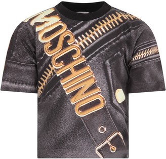 Moschino Grey T-shirt For Boy With Logo