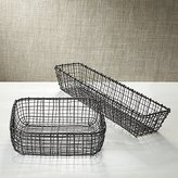 Crate & Barrel Bendt Iron Serving Baskets