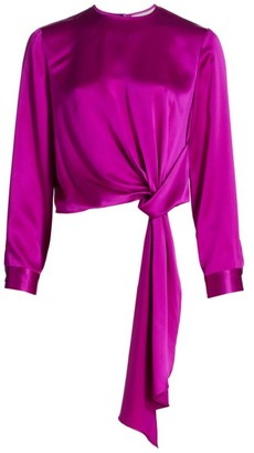 Mason by Michelle Mason Draped Silk Blouse